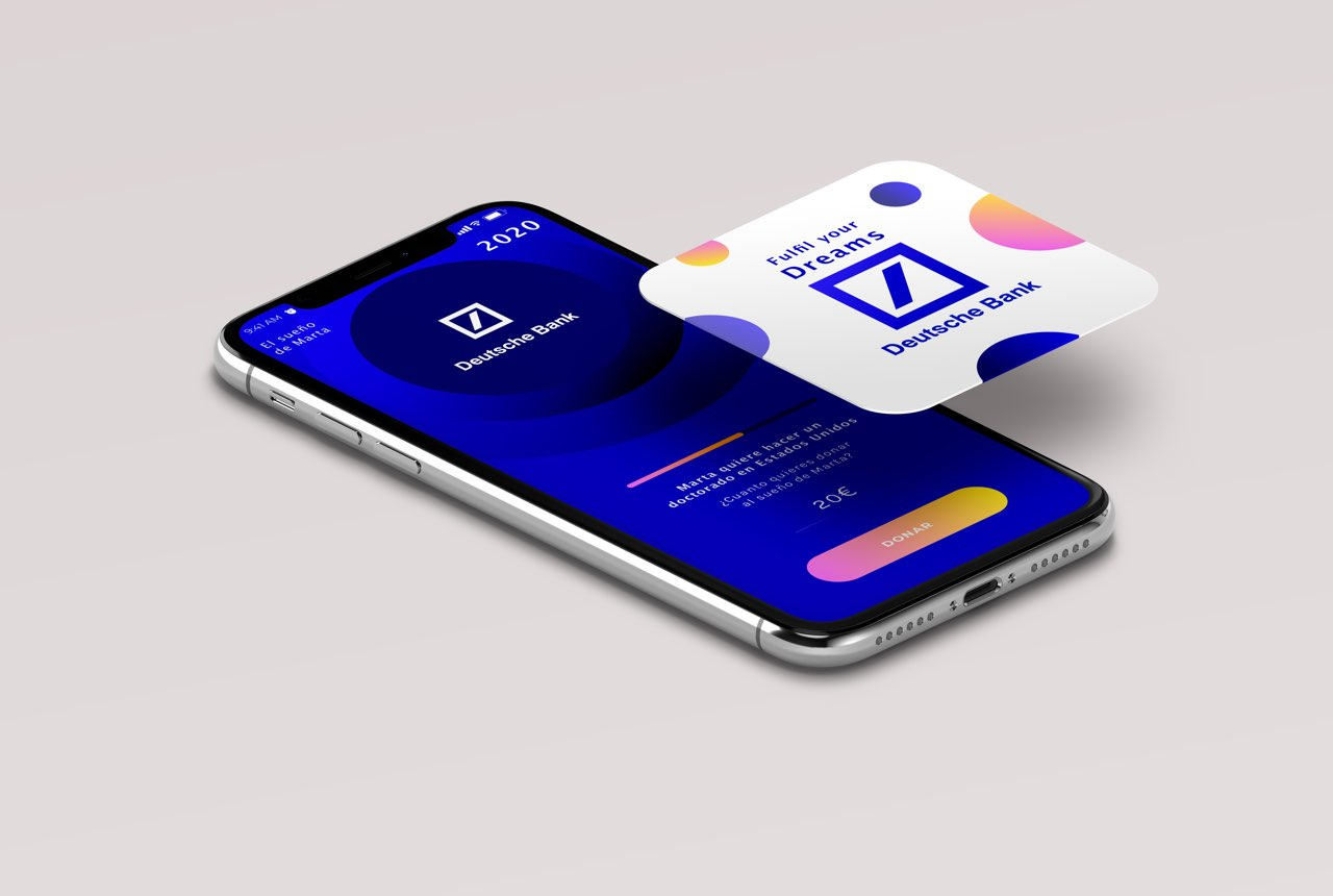 Digital product ideation and design for Deutsche Bank, the totem that makes your dreams come true.
