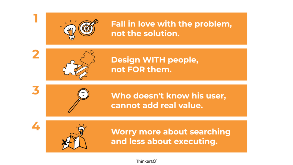 Four learnings when designing digital products in projects of innovation
